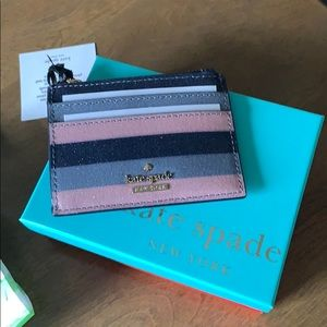Kate Spade ♠️ All that Glitters wallet, NWT!